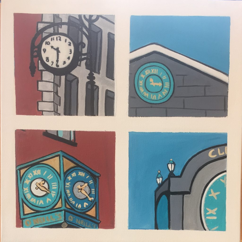 Snapshots of Dublin - On Time - from Grafton Street to Clery's Clock