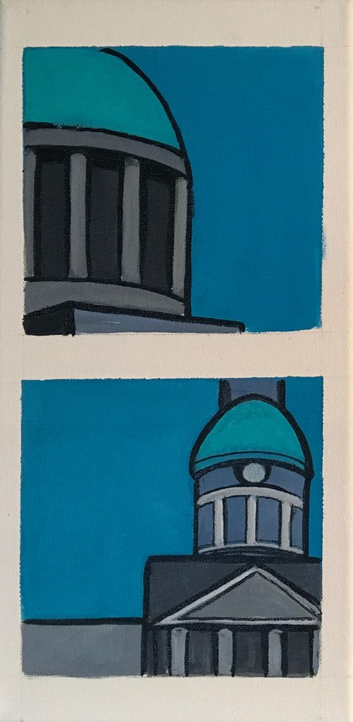 Snapshots of Dublin - The Four Courts and The Customs House [SOLD]