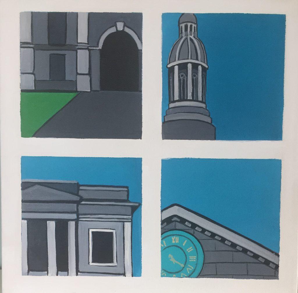 Snapshots of Dublin - Trinity - from Entrance to the Clock