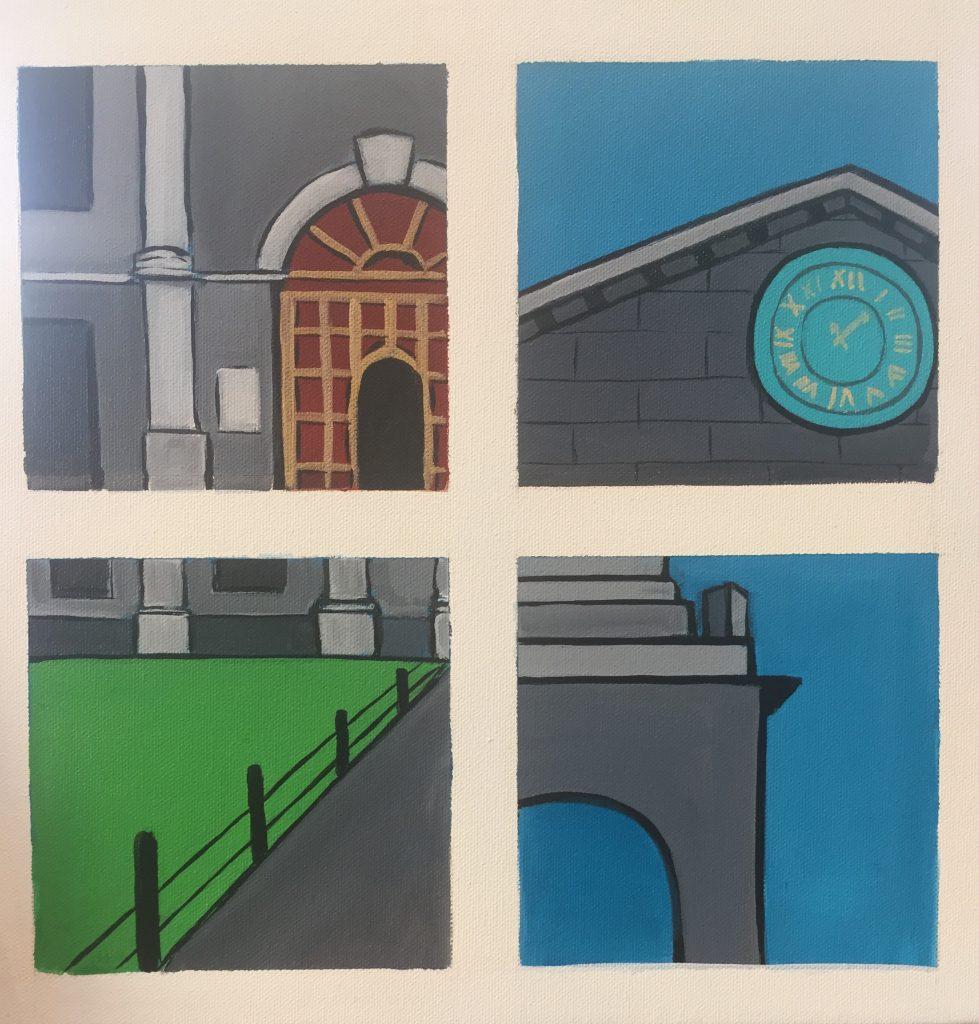Snapshots of Dublin - from Trinity Door to the Campanile