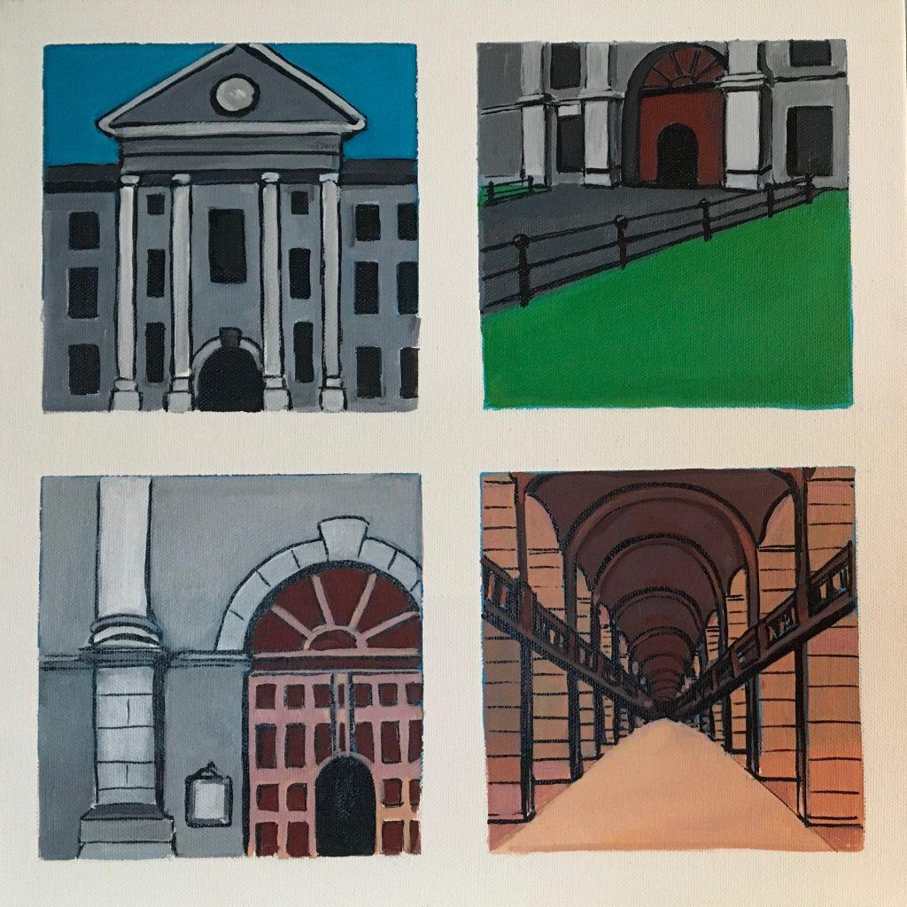 Snapshots of Dublin - from Trinity Facade to the Long Room
