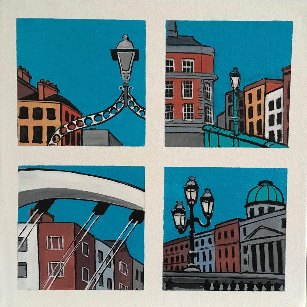 Snapshots of Dublin - Bridges - from the Ha'penny Bridge to O' Connell Bridge