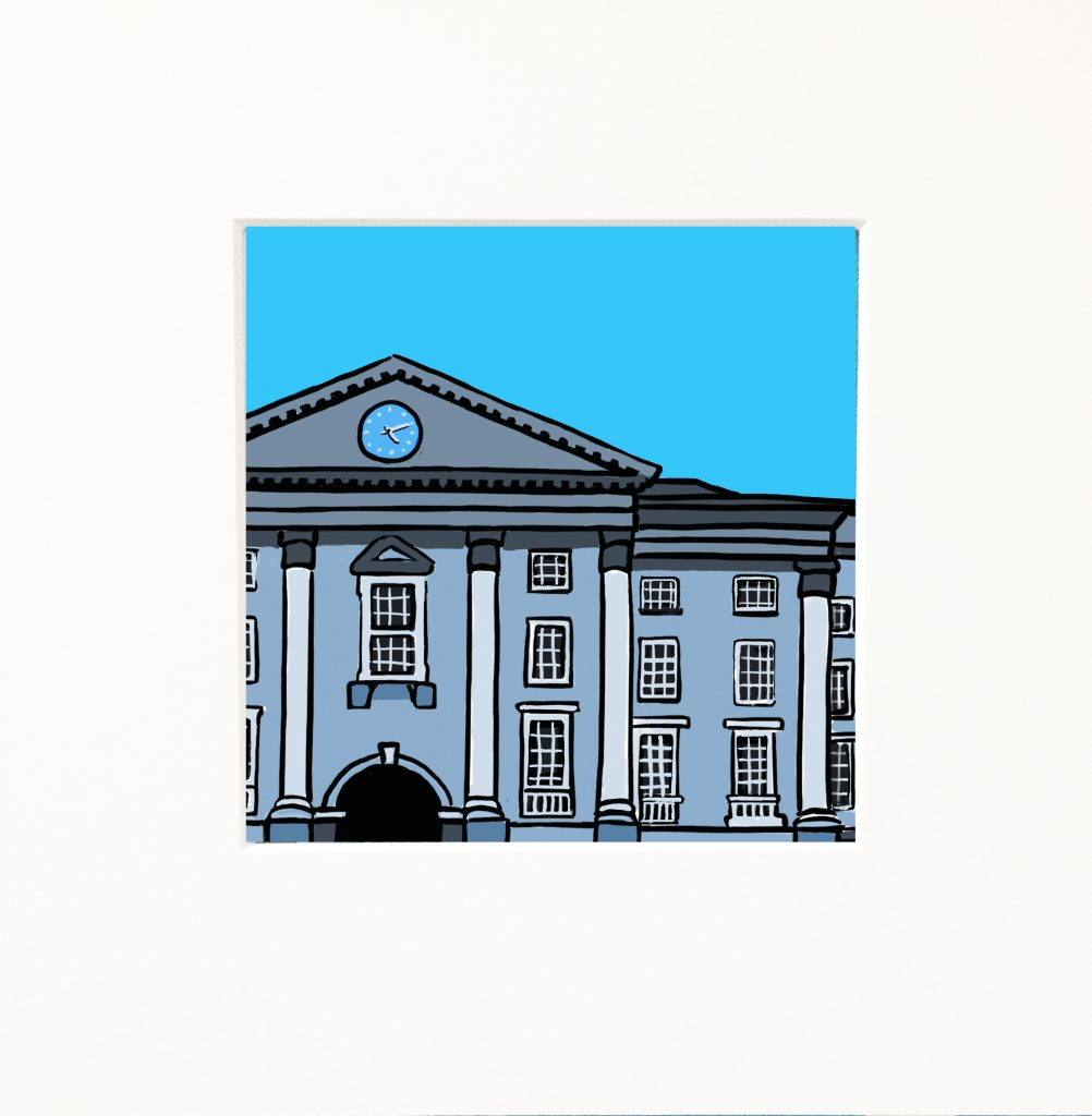 Snapshots of Dublin - Trinity on blue